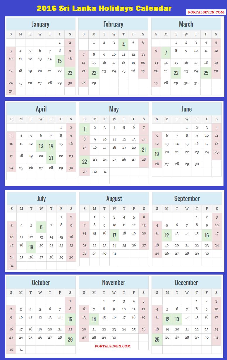 School Calendar 2018 In Sri Lanka : Sri lanka calendar lankan holidays